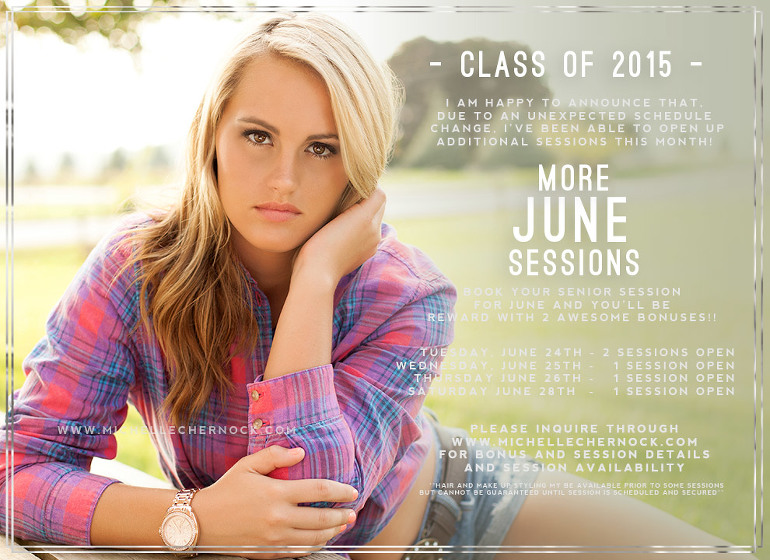 Schedule your senior session before they are all booked