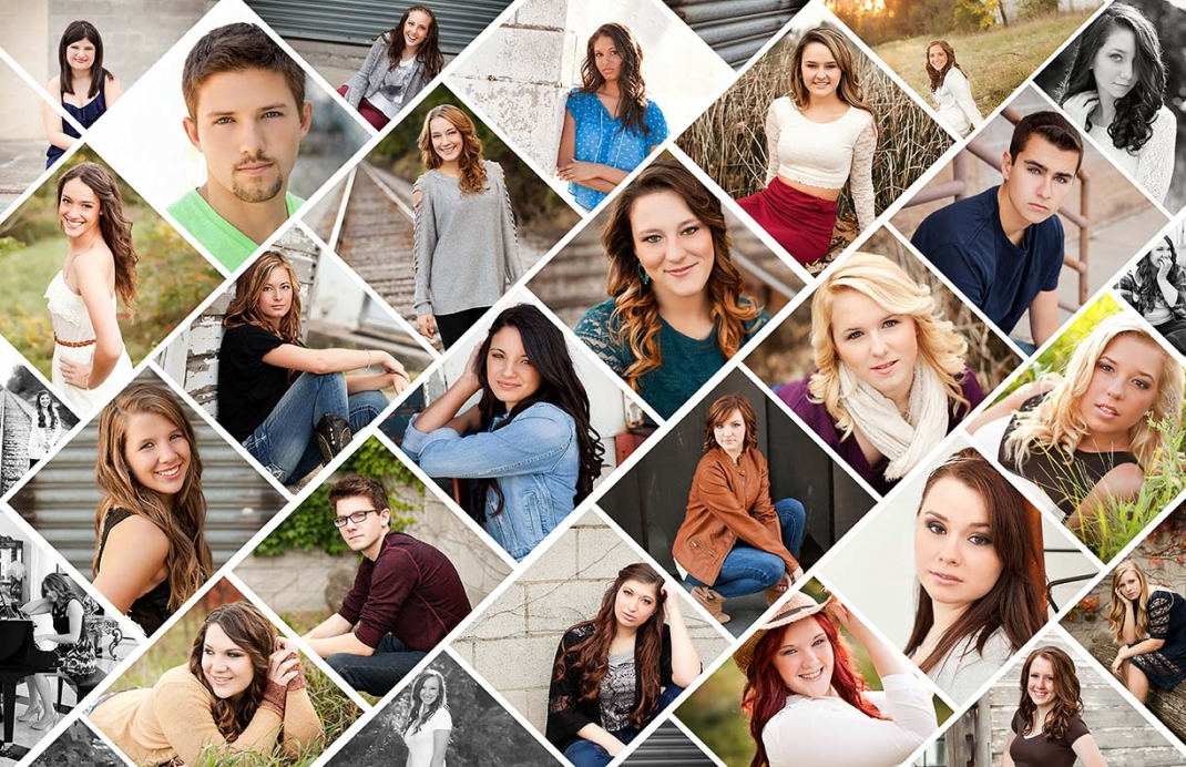 collage-of-toledo-area-senior-pictures-taken-by-toledo-senior-portrait-photographer-michelle-chernock-photo